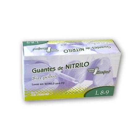 GUANTE LATEX AZUL-NTRILO
